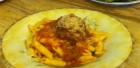 Tina's Penne Pasta and Homemade Meatball